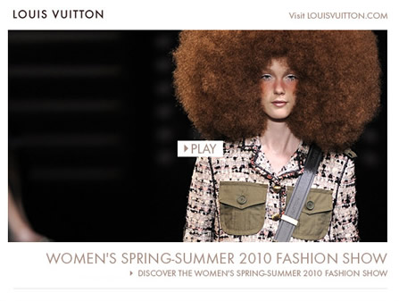 lv womens STYLE: Louis Vuitton Womens Spring Summer 2010 Fashion Show