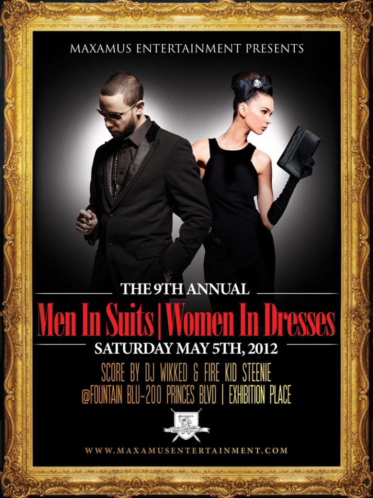 MAXAMUS SUITS DRESSES poster 767x1024 EVENT/CONTEST: Saturday May 5   The 9th Annual Men in Suits | Women in Dresses @ FOUNTAIN BLU