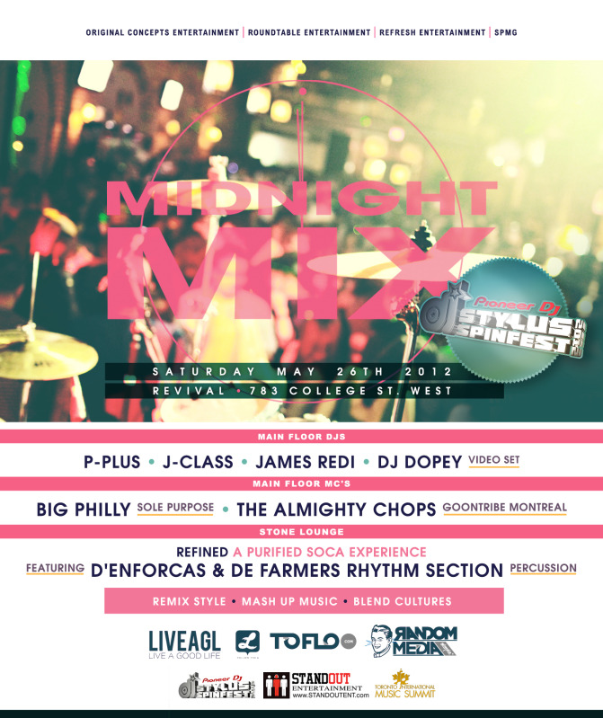 midnight mix EVENT: Saturday May 26   Midnight Mix Stylus Spinfest Edition @ REVIVAL
