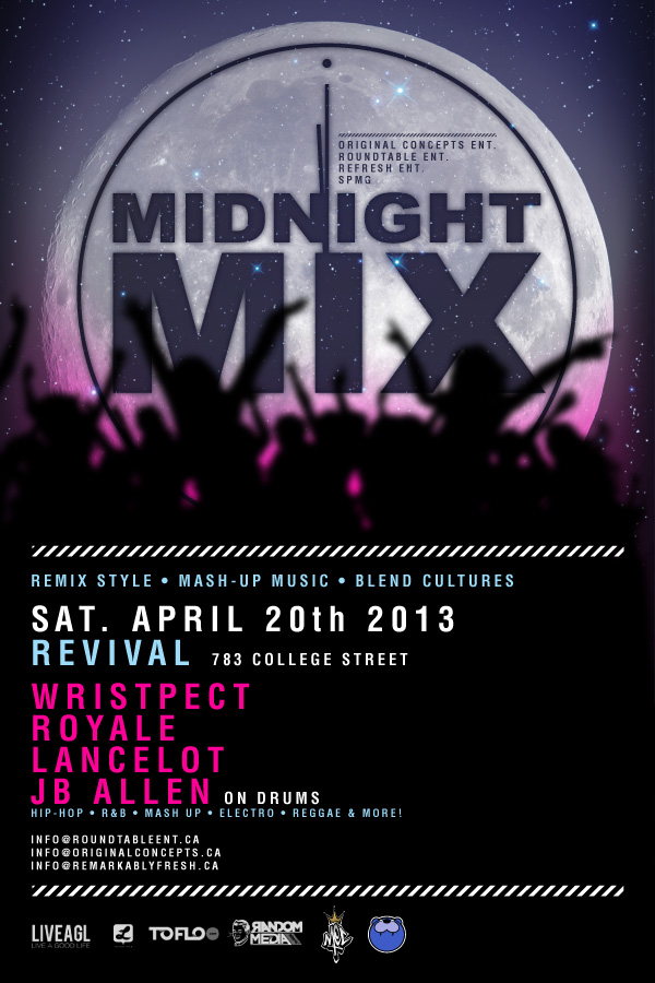midnight mix 04.20.13 01 EVENT: Saturday April 20   Midnight Mix @ REVIVAL