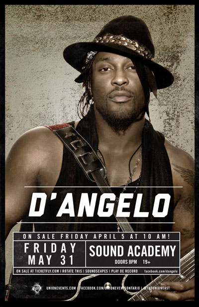 dangelotoronto EVENT: Friday May 31   DAngelo Live In Concert @ SOUND ACADEMY