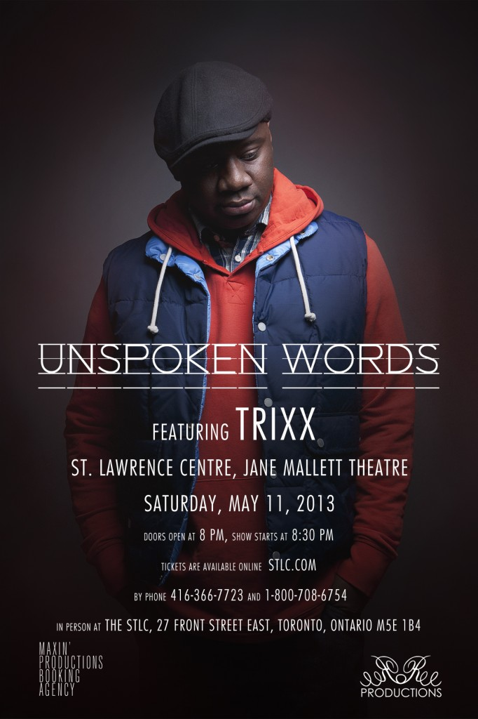 photo 1 682x1024 EVENT: Saturday May 11   Unspoken Words Feat. Trixx @ JANE MALLETT THEATRE