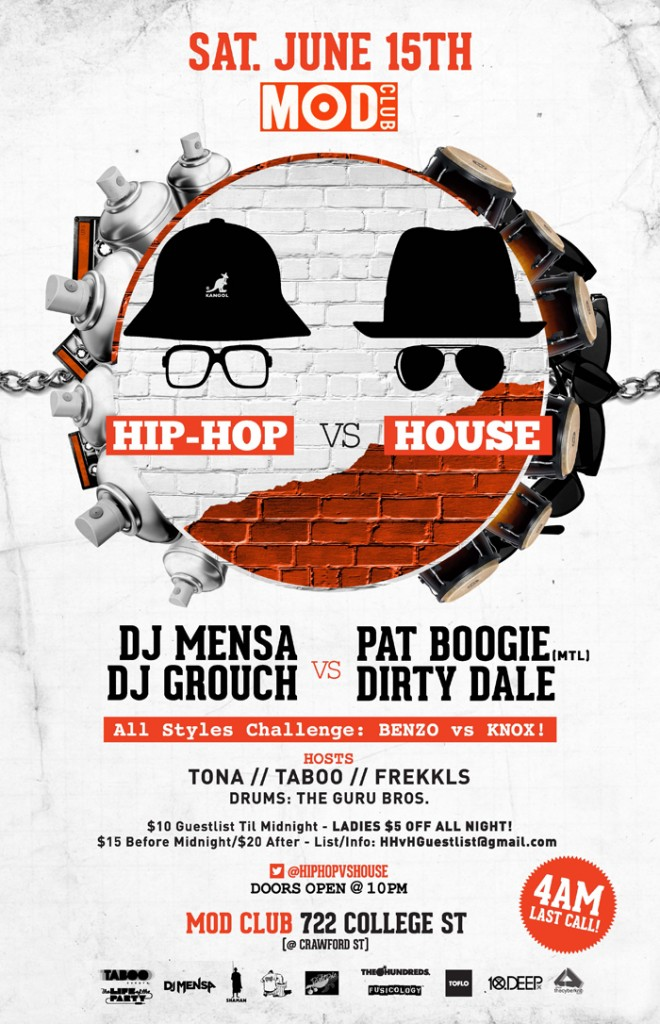 00298 Edson HHvH poster PRINT 660x1024 EVENT: Saturday June 15   Hip Hop vs. House @ MOD CLUB