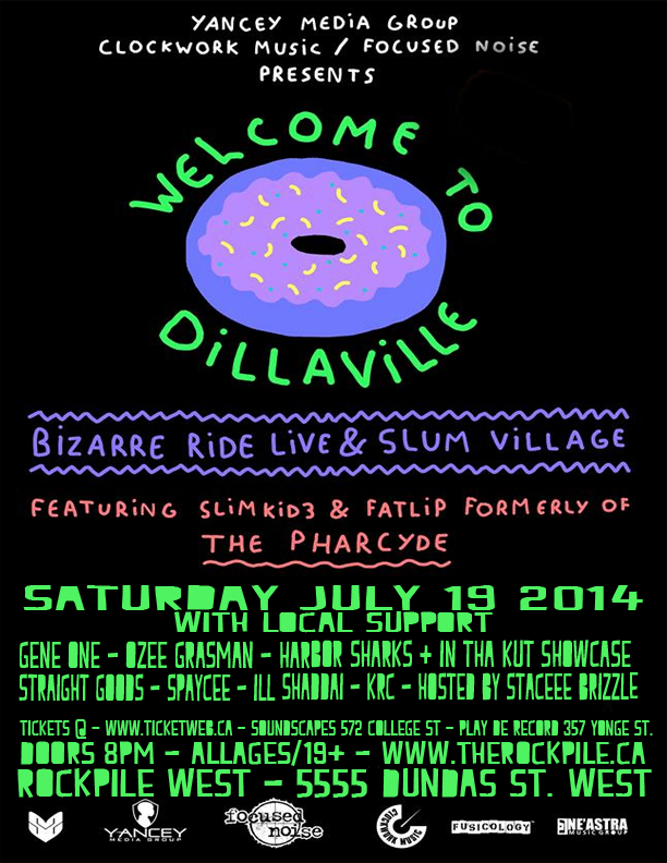 dillaville final  EVENT: Saturday July 19   Welcome to Dillaville + J Dilla Tribute Concert @ ROCKPILE WEST