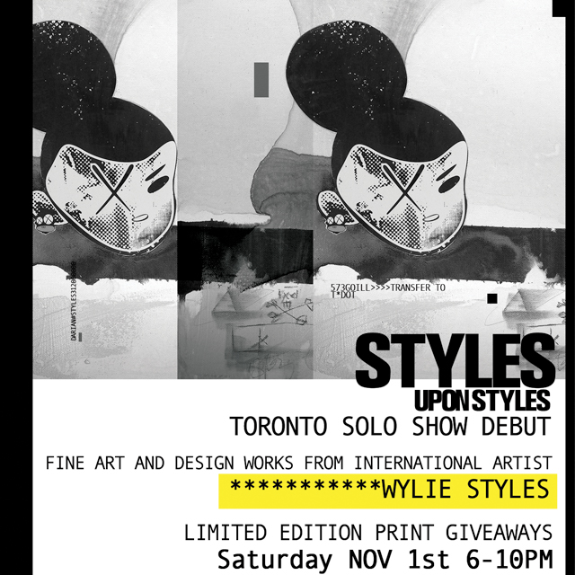 ToybotInsta01 EVENT: Saturday Nov. 1   Grand Opening of Styles Upon Styles Art Show featuring International Artist Wylie Styles
